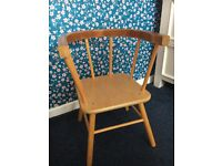 Small Wooden Child's Chair for Upscaling