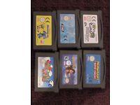 6 Gameboy Advance Games