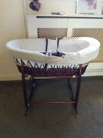 Whicker moses basket