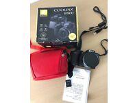 Nikon Coolpix B500 with 16GB memory card, camera bag, batteries