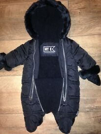 Newborn baby MY K snowsuit new without tags