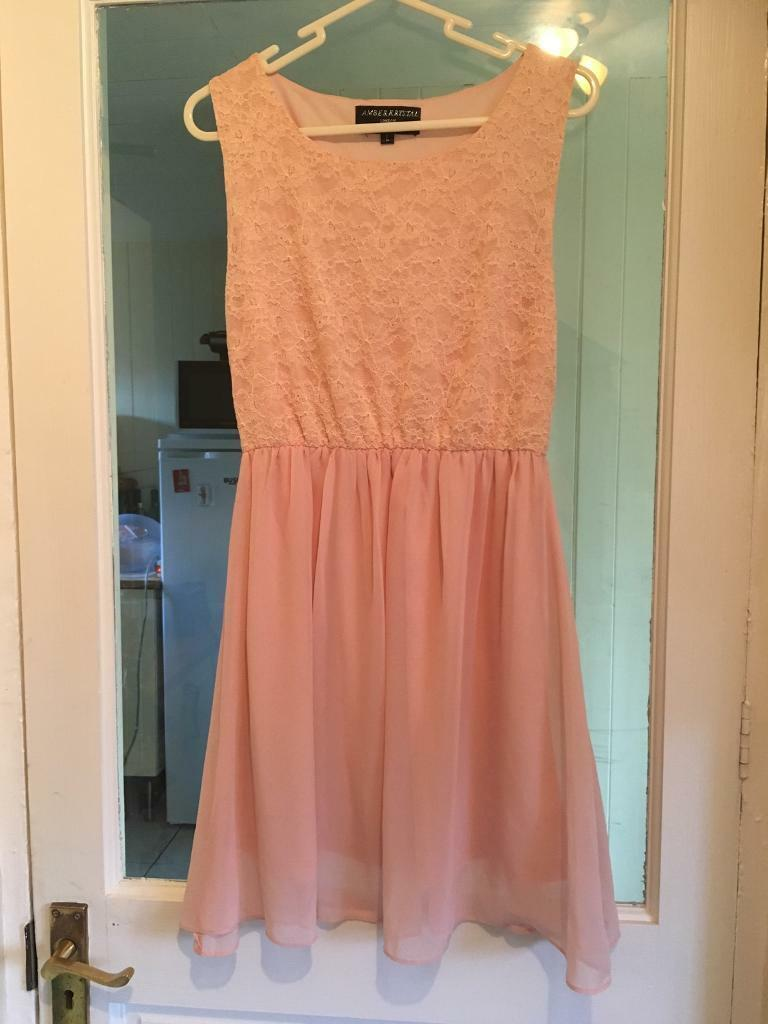 Size L ( 12 ) peach skater dress