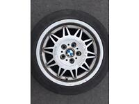 BMW 5x120 17 inch M3 Alloy wheels and tyres E36 E46 Genuine OEM