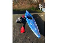 Perception Corsica S kayak with paddle and accessories