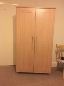 Wardrobe, drawers and bedside table