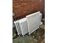 cast iron radiators x4