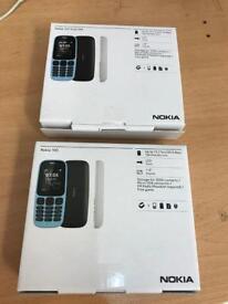 Brand new boxed Nokia 105 single & Dual Sim Unlocked / genuine UK model