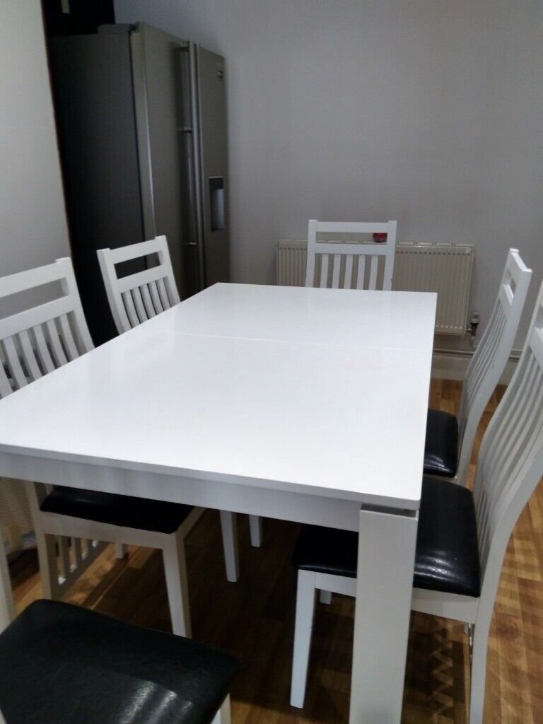 White Dining Table And Chairs Exeter