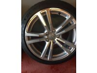 4x Audi sline 18 inch alloys with tyres
