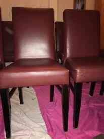 Real Leather chairs - used