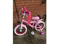 """Brand new 14"""" COSMIC STARLIGHT KID'S BIKE WITH REMOVABLE STABILIZER (ASSEMBLED BRAND NEW)"""
