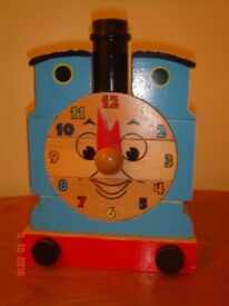 Thomas wooden jigsaw clock - £3 SORRY NO OFFERS clean smoke free home