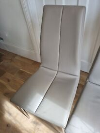 Three Next Faux Leather Dining Chairs