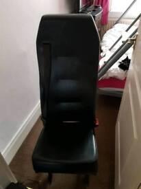 Single black van seat
