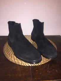 Men's real suede black chelsea boots size 9.5/44