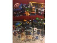 * LOOK * Fisher price Imaginext bundle, 9 play sets, vehicles etc