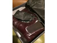 Gents quality leather dealer boots size uk 9.5