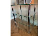 Tempered Glass 4 Tier Unit