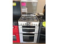INDESIT 60CM ALL GAS COOKER IN STAINLESS STEEL WITH LOD