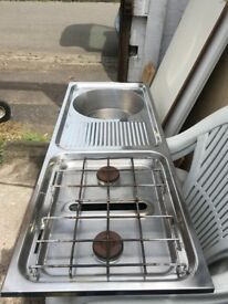 Stainless steel sink and cooker combo for camper van £75 free delivery