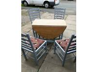 Drop leaf table and chairs refurbished