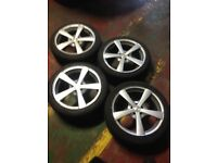 17 inch alloys for a Vw polo 5 studs