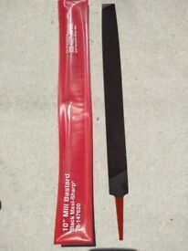 MILLSAW FILE 10 inch SINGLE CUT FOR SMOOTH FINISH - BRAND NEW