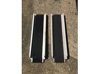Wheelchair extendable ramps