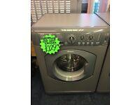HOTPOINT 7KG DIGITAL WASHING MACHINE. SILIVER
