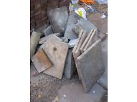 Free garden slabs to collect