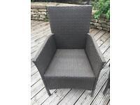 Set of 6 wicker garden chairs