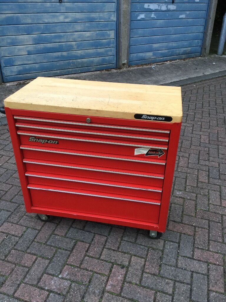 Snap On 40 Quot Roll Cab With Butchers Block Wooden Top In