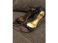 Ladies Clarks purple sandals size 8