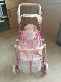 Kids Baby Annabell double lamb pram pushchair buggy zapf zaps creation
