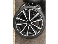 "18"" RONAL ALLOY WHEELS WITH TYRES 5x112 7.5J"