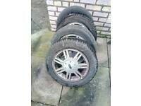 Ford Fiesta Focus Alloy Wheels and 4 tyres good tread
