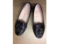 NEXT Tassel Loafers, BRAND NEW, Black Patent leather, UK 2