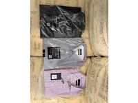 3 x Mens shirts - unused - 15 and 15-1/2 inch collar. Debenhams. Extra long.