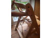 wooden high chair kids childrens bar stool PRICE REDUCED