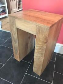Solid mango wood lamp table / side table £55 (rrp £120 on OakFurnitureLand)