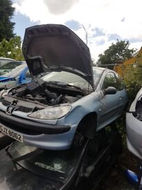 2004 peugeot 206 1.4 petrol breaking for parts