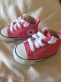 Pink Converse -First Star size 1 (crib)