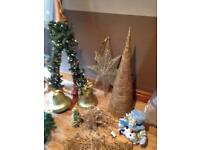 A collection of Christmas decorations