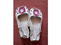 Girls leather sandals size 10