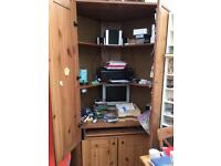 Large corner cupboard ideal for office use