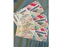 Wireless festival tickets. Sunday 09th july