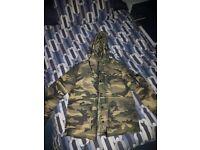ZARA Man Mens Camo Winter Jacket - Size Medium VERY GOOD QUALITY