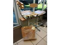 Kitchen stools/ Bar stools x2 plus 3rd new seat
