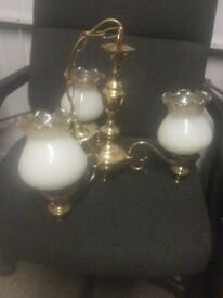 LIGHT FITTING - BRASS - 3 ARMS