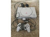 PS1 console and controller